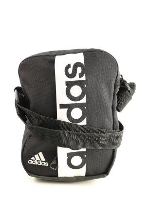 Adidas Umhängetasche schwarz Schriftzug gedruckt Casual-Look