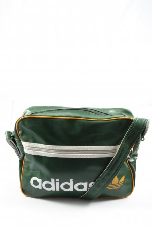 Adidas Borsa a spalla verde caratteri stampati stile casual