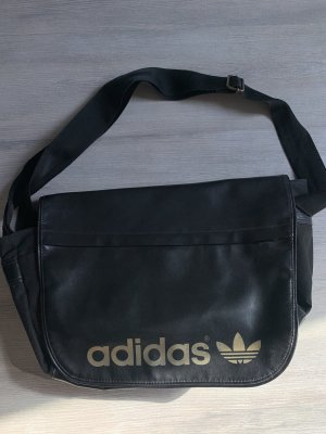 Adidas Umhängetasche Schwarz Gold