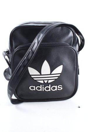 Adidas Umhängetasche schwarz-weiß Motivdruck sportlicher Stil