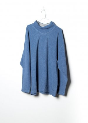 Adidas Pullover in pile blu