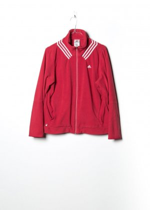 Adidas Pullover in pile rosso
