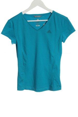 Adidas Maglia con scollo a V blu stile semplice