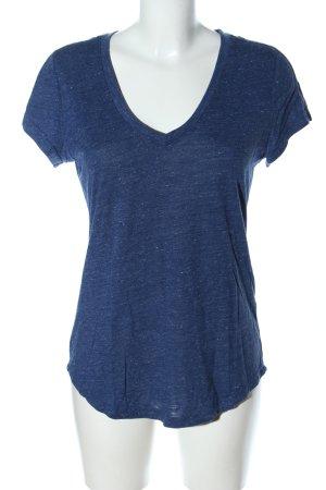 Adidas V-Neck Shirt blue flecked casual look