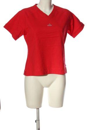 Adidas Koszulka z dekoltem w kształcie litery V czerwony W stylu casual