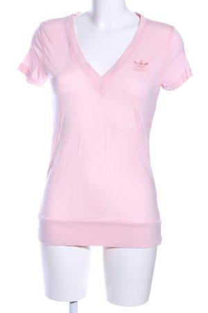 Adidas Maglia con scollo a V rosa stile casual