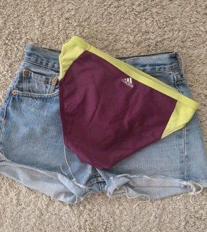 Adidas Bañador de hombre rojo zarzamora-violeta amarronado