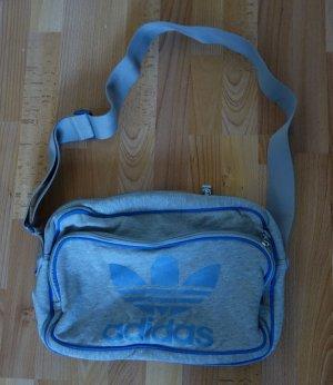 Adidas Sac de sport gris clair-bleu fluo