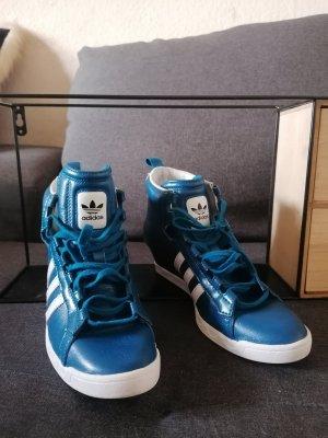 Adidas Originals Sneaker con zeppa petrolio Pelle