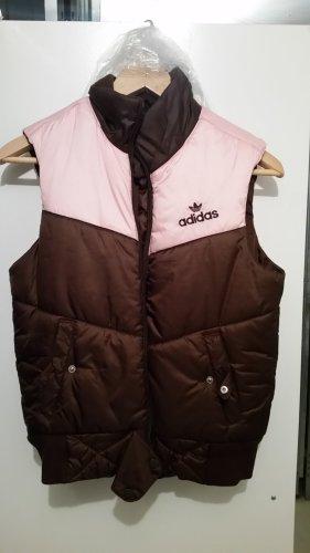 Adidas Gewatteerd vest lichtroze-donkerbruin