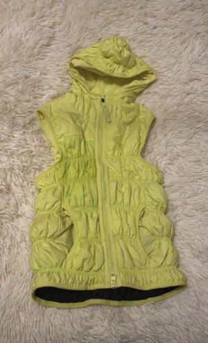 Adidas by Stella McCartney Puchowa kamizelka żółty neonowy