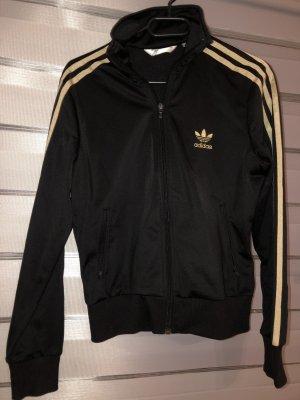Adidas Chaqueta deportiva negro-color oro