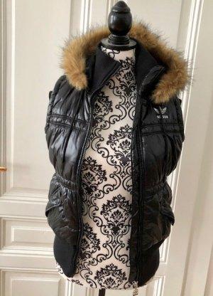 Adidas Gewatteerd vest zwart-beige Polyester