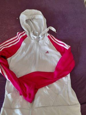 Adidas Sportvest wit-framboosrood