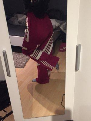 Adidas Pantalon de sport rouge mûre