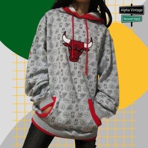 Adidas X NBA Chicago Bulls Hoodie Vintage Y2k     Oversized 48
