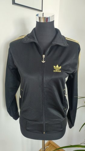 Adidas Zipjacke schwarz/Gold