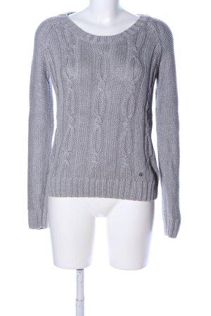 Adidas NEO Maglione intrecciato grigio chiaro punto treccia stile casual