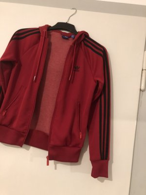 Adidas Veste sweat rouge-noir
