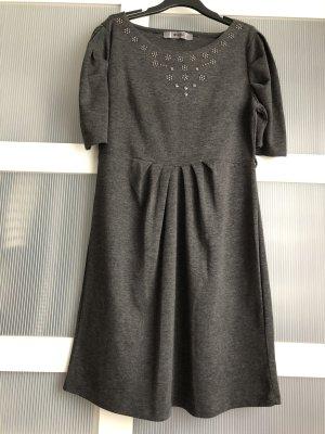 adl Vestido de tela de jersey gris-gris oscuro