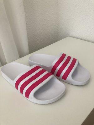 Adidas Klompen wit-roze