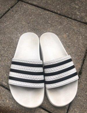 Adidas Sandalias de playa blanco-negro