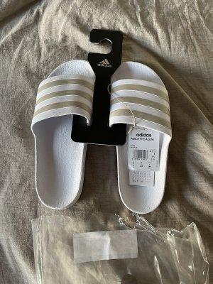 Adidas Sandalias de playa blanco-color bronce