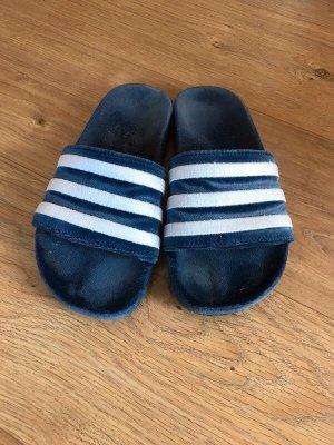 Adidas Ciabatta aperta blu-bianco