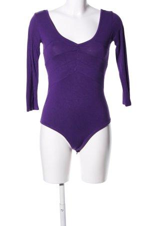 adilisk Top à manches longues violet style décontracté