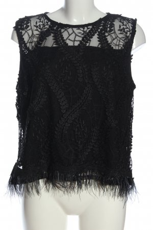 ADIVA Sleeveless Blouse black graphic pattern casual look