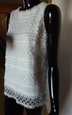 Adiva, neues weißes Spitzenshirt, Gr. S