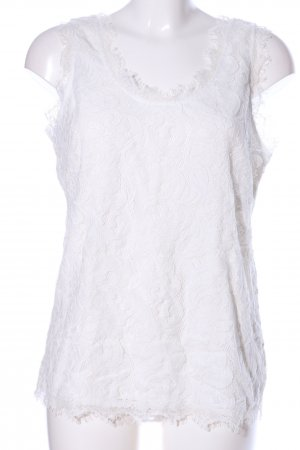 ADIVA Top de encaje blanco look casual