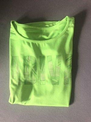 ADIVA Camisa deportiva verde neón-verde pradera