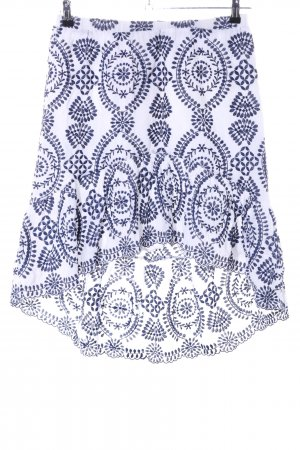ADIVA Flounce Skirt white-blue allover print elegant