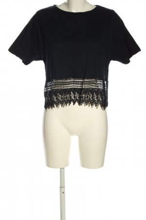 adl Cropped Shirt black casual look