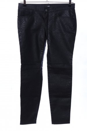 adl Low-Rise Trousers black abstract pattern casual look