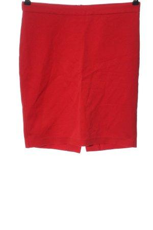 adl Minigonna rosso motivo a righe stile casual