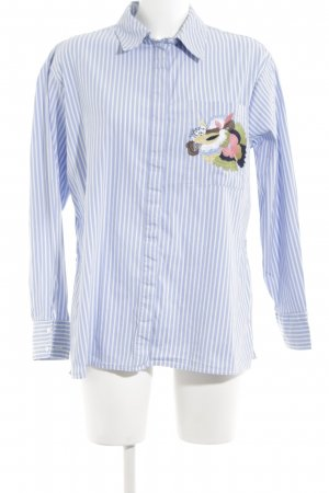 adl Oversized Blouse blue-white striped pattern casual look