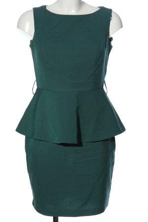 adl Vestido peplum verde elegante