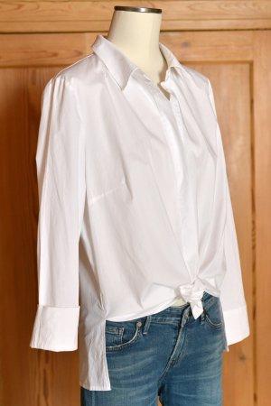 ADLER Birgit Schrowange klassische Bluse 44 Weiß Hemdbluse ungetragen