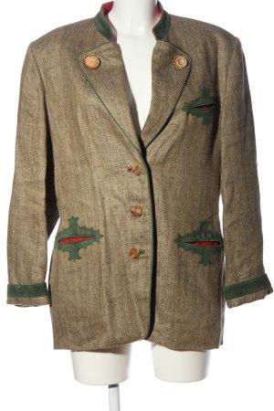 Admont Long-Blazer braun-grün Webmuster klassischer Stil