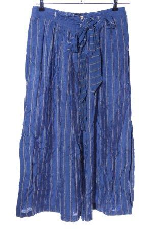 Admont Falda larga azul-gris claro estampado a rayas elegante