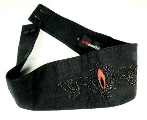 Admont Cintura fianchi nero-rosso Cotone