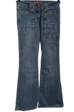 Ado Style Jeans a zampa d'elefante blu stile casual