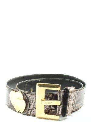 Adolf Boucle de ceinture brun motif animal style décontracté