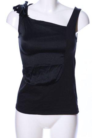 Adolfo Dominguez ärmellose Bluse schwarz Casual-Look