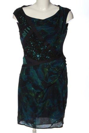 Adolfo Dominguez Pencil Dress black-green color gradient elegant