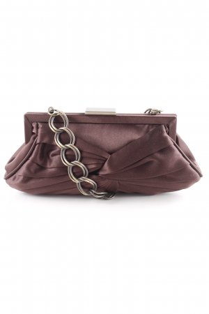Adolfo Dominguez Clutch dark brown elegant