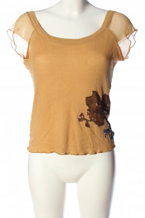 Adolfo Dominguez Cropped top licht Oranje casual uitstraling