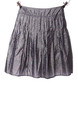 Adolfo Dominguez Plisowana spódnica jasnoszary Abstrakcyjny wzór